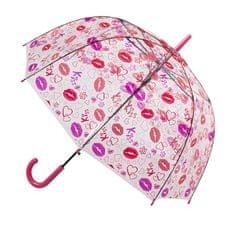 Blooming Brollies Holovaty Női átlátszó tiszta Dome esernyő Stick Lips tervezés POESLIP
