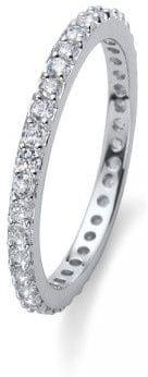 Oliver Weber Srebrni prstan s kristali Plaža Jolie 63225 (Obseg XL (60 - 63 mm)) srebro 925/1000