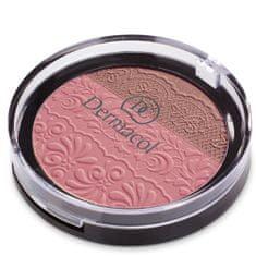 Dermacol DUO paletka z wytłoczoną koronką(Duo Blusher) 8,5 g