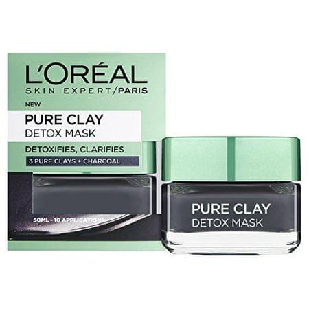 L'ORÉAL PARIS Intenzivní čisticí rozjasňující maska Pure Clay (Detox Mask) (Objem 50 ml)