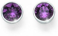 Oliver Weber Ocean Uno lila kristály fülbevaló 22623 204