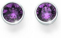 Oliver Weber Kolczyki z fioletowymi kryształkami Ocean Uno 22623 204