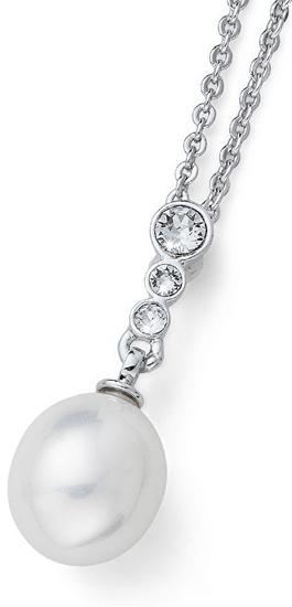 Oliver Weber Náhrdelník s perličkou a kryštály Ocean Poet 11708