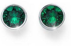 Oliver Weber Ocean Uno zöld kristályos bedugós fülbevaló 22623 205