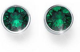 Oliver Weber Kolczyki z kryształami zielone kamienie Ocean Uno 22623 205