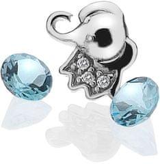 Hot Diamonds Element Słoń z topaz EX098 srebro 925/1000