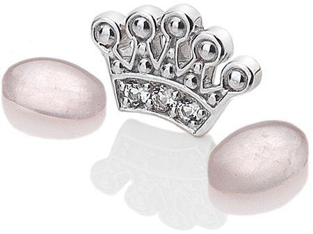 Hot Diamonds Anais korona és rózsakvarc elemek EX118 ezüst 925/1000