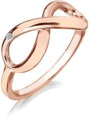 Hot Diamonds Bronzový prsteň Infinity DR175 striebro 925/1000