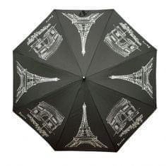 Doppler Dámsky palicový vystreľovací dáždnik Flex AC Paris - čierny 740765P
