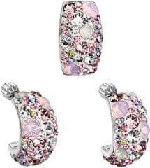 Evolution Group Romantická sada šperkov Magic Rose 39116.3 (náušnice, prívesok) striebro 925/1000