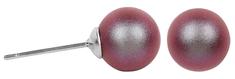 Troli Náušnice Pearl Iridescent Red