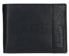 Lagen Czarny portfel skórzany 9113 czarny