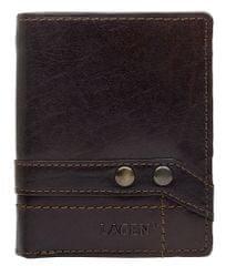 Lagen Brązowy skórzany portfel 558 NC / T Dark Brown