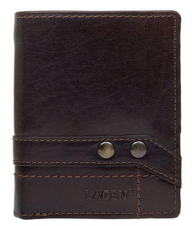 Lagen Bőr barna pénztárca 558 NC / T Sötétbarna
