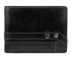 Lagen Czarna skóra mężczyzn portfel 5103 W / T czarny