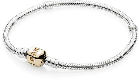 Pandora Luksusowa złota bransoletka z 590702HG (długość 19 cm) srebro 925/1000