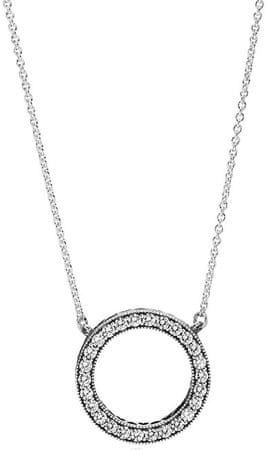 Pandora Ezüst nyaklánc kristály medálall 590514CZ-45 ezüst 925/1000