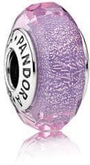 Pandora Elegantný fialový korálku 791651 striebro 925/1000