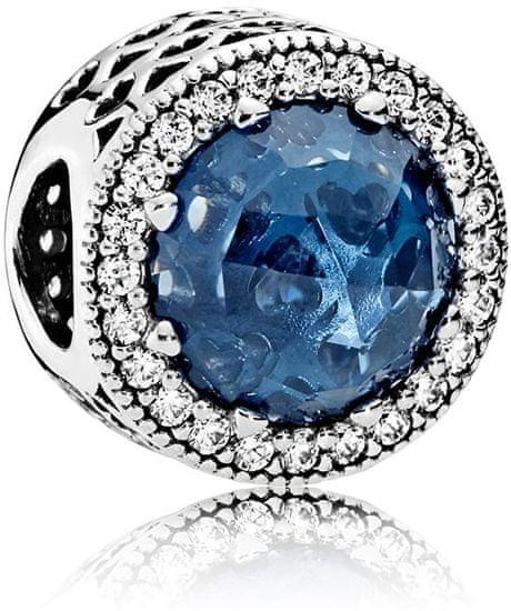 Pandora Luxusné korálik s tmavo modrým kryštálom 791725NMB striebro 925/1000