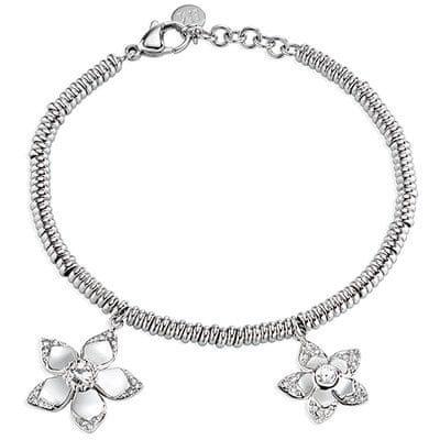 Morellato bransoleta ze stali z kwiatami SAJR10