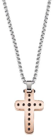Morellato Moška dvobarvna ogrlica s križem SKR30