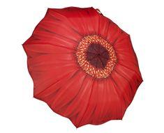 Blooming Brollies Nőiautomata összecsukható esernyőGalleria Red Daisy Folding GFFRDN