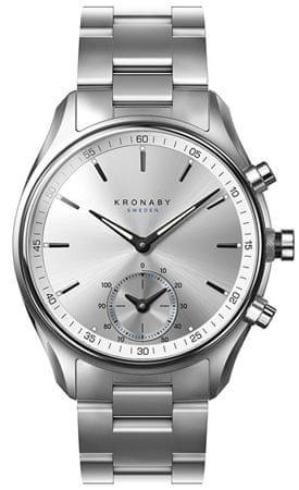 Kronaby Połączony wodoodporny zegarek A1000-0715 szekli