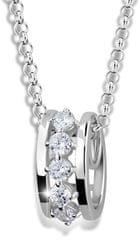 Modesi Módní náhrdelník ze stříbra M41090 (řetízek, přívěsek) stříbro 925/1000