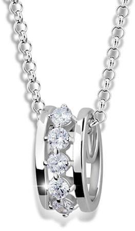 Modesi Modna srebrna ogrlica M41090 (veriga, obesek) srebro 925/1000
