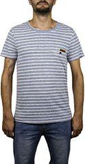 Hydroponic Męska koszula Stripe SS Imperial Navy Stripes