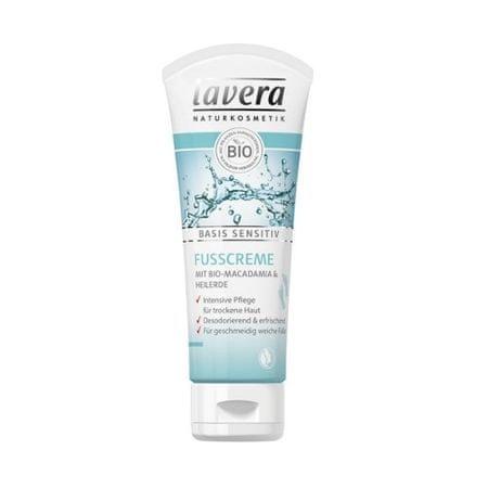 Lavera Basis Sensitiv természetes lábápoló krém (Foot Cream) 75 ml