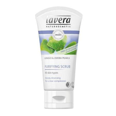 Lavera Oczyszczanie Ścieranie Ginkgo i jojoba kulek do wszystkich typów skóry (oczyszczający do szorowania)