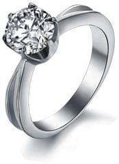 Troli Oceľový prsteň s kryštálom KRS-174