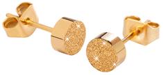 Troli KE-004 csillogó bedugós arany fülbevaló KE-004