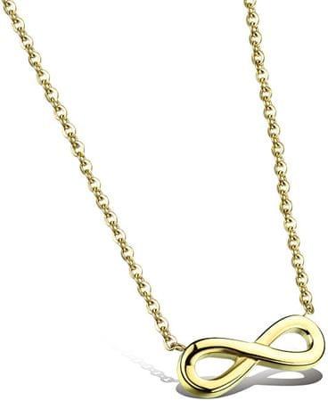 Troli Pozlačena jeklena ogrlica Infinity KNS-271