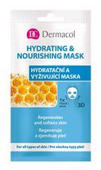 Dermacol Hidratáló és tápláló fátyolmaszk minden bőrtípusra 3D (Regenerates Softens Skin) 1 db