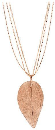 Troli Rožnato pozlačena ogrlica z lovorovim listom I. Laurel