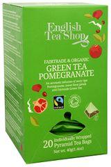 English Tea Shop Zelený čaj s granátovým jablkom 20 pyramidek