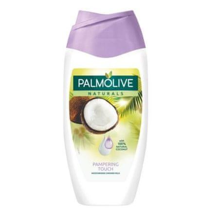 Palmolive Bársonyos tusfürdő kókusz aroma Naturals (Kényeztető Touch hidratáló zuhany Milk) 250 ml