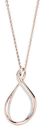 Brosway Ribbon Mini cirkónia kővel díszített bicolor nyaklánc BBN06