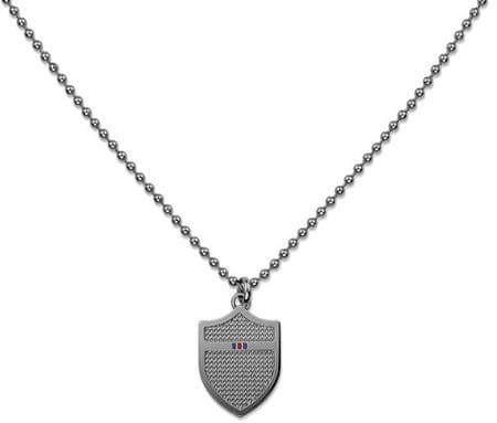 Tommy Hilfiger Siva ogrlica s ščitom TH2700896