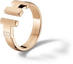 Tommy Hilfiger Luxusné bronzový prsteň z ocele TH2700862