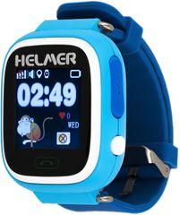 Helmer Chytré dotykové hodinky s GPS lokátorem LK 703 modré + SIM karta GoMobil s kreditem 50 Kč