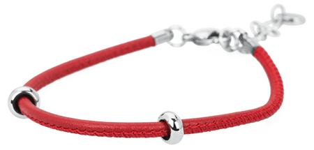 Brosway Bracciale rdeča usnjena zapestnica BBR15