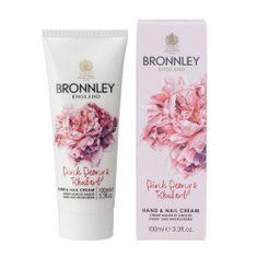 Bronnley Vyživující krém na ruce a nehty Pivoňka a rebarbora (Hand & Nail Cream) 100 ml