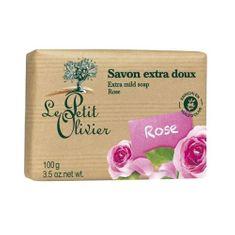 Le Petit Olivier Extra fine mydło Rose (dodatkowo Łagodne mydło) 100 g