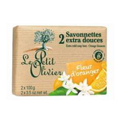 Le Petit Olivier Extra fine mydło kwiatów pomarańczy (dodatkowo Łagodne mydło bary) 2 x 100 g