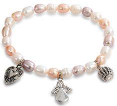 JwL Luxury Pearls Jemný náramok z pravých perál s ozdobami JL0295