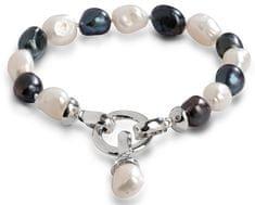 JwL Luxury Pearls Zapestnica iz pravih biserov v dveh odtenkih JL0317