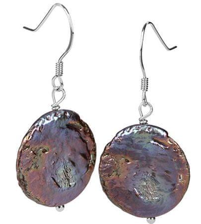 JwL Luxury Pearls Ezüst fülbevaló acélkék igazgyönggyel JL0305 ezüst 925/1000